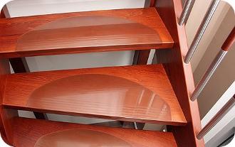 treppenstufenmatten transparente stufenmatten aus kunststoff. Black Bedroom Furniture Sets. Home Design Ideas